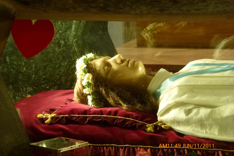 St. Maria Goretti. She's buried below this effigy.